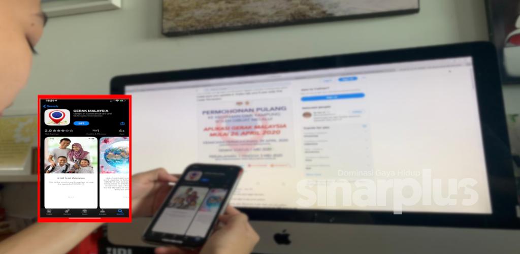 Covid-19: Aplikasi 'Gerak Malaysia' permohonan lintas negeri atas talian