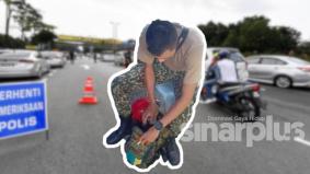 Menyamar anggota tentera untuk bolos sekatan jalan raya PKP