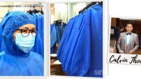 Calvin Thoo ketepikan baju raya, fokus jahit PPE
