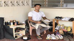 Baiki kasut secara online, pemuda ini positif hadapi PKP