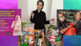 Ifa Raziah bagi sumbangan beras dan barangan dapur
