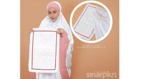 Sejadah putih SK x Amru konsep minimalis