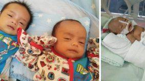 Dapat anak kembar tiga, tapi diuji seorang di ICU, suami diberhentikan kerja sejak PKP
