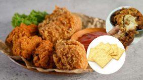 Ayam crunchy dengan biskut Hup Seng! Mudah, semua boleh cuba!