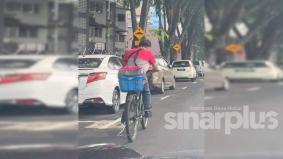 Runner Food Panda naik basikal dicari, ingin dihadiahkan motosikal
