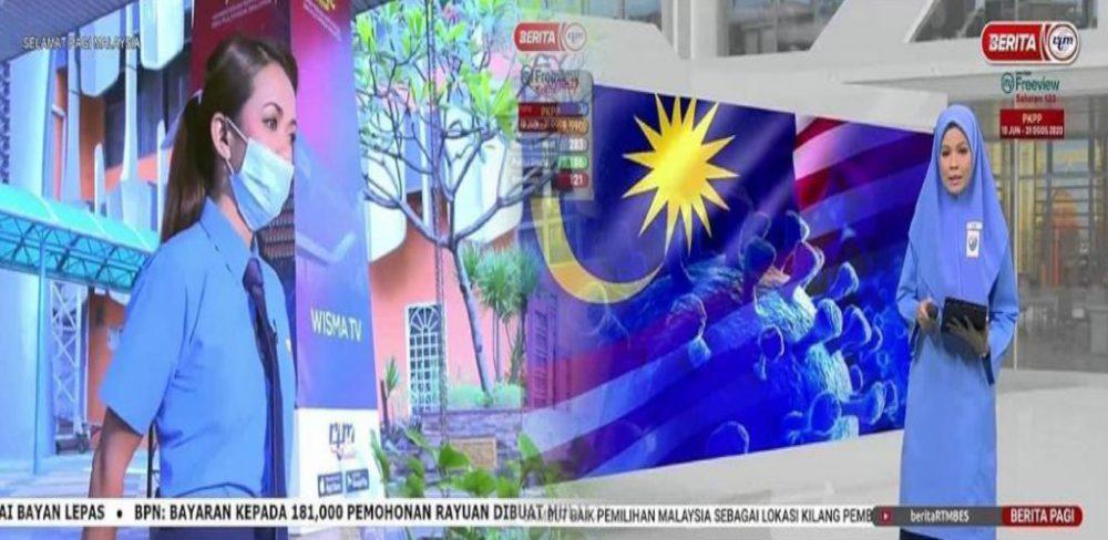 Geng bilik berita RTM pakai baju sekolah sampaikan berita