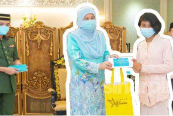 Pelajar panjat pokok, anggun berkebaya ke Istana Negeri Sabah, terima hadiah wang tunai