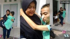Foto kendong suami sakit buat warganet tersentuh, tapi wanita ini kesal bila…
