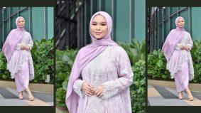 Aina Abdul beli juadah raya online