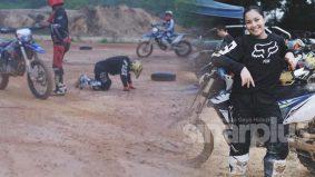 [VIDEO] Janna Nick buat 'gila', main motocross sampai jatuh
