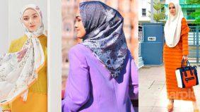 Lupakan warna hitam, nuansa terang pilihan hijabi moden