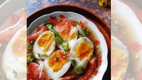Telur rebus air asam viral