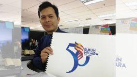 Superb, logo Rukun Negara ada tengkolok siap jam 3 pagi, pereka grafik kongsi kisah benar
