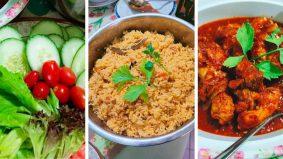 Nasi tomato ayam merah, pakai beras biasa pun boleh