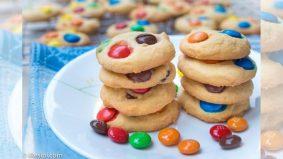 Resipi biskut M&M rangup buat si kecil di hari raya