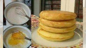 Resipi pancake super gebu yang menarik untuk dicuba