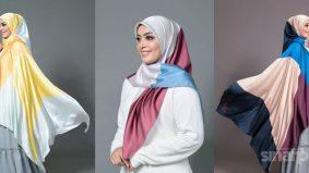 Elemen mewah selendang Wanfa Hijab