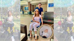 Nadia Brian berkerusi roda, direhatkan daripada penggambaran