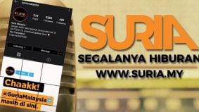 Instagram Suria Malaysia kembaliaktif