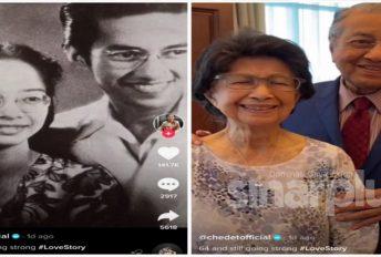 Video romantik Tun M dengan Tun Siti Hasmah cecah 1.2 juta tontonan dalam masa sehari