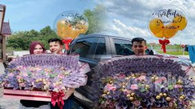 Hadiahkan suami gubahan sejambak bunga sama nilai dengan sebuah Honda Jazz!