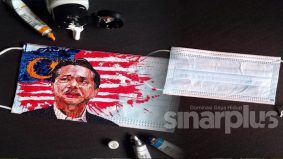 Lukis potret Dr. Noor Hisham pada pelitup muka yang rosak, hasilnya sangat wow!
