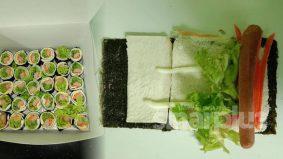 Sushi sandwich guna roti, sesuai buat anda yang sedang mengamalkan diet nasi