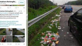 Warganet kesal sampah bersepah tepi bahu jalan, Roadcare mohon sama jaga kebersihan
