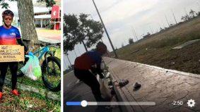 [VIDEO] 'Sakit mata' tengok buangan bersepah, pemuda ini nekad jadi Hero Sampah sambil berbasikal