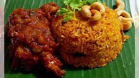 Resipi nasi tomato dan ayam masak merah simple, sedap