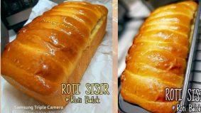 Roti sisir @roti balok mudah bikin, sedap