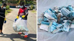 Dua beradik sepakat kutip sampah pelitup muka terpakai dibuang merata-rata dipuji warganet