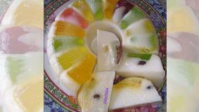 Agar-agar sumi, letak buah fresh pun sedap