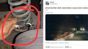 [VIDEO] 'Nasib baik kami sekeluarga selamat' – Kereta berpusing sebelum sipi dilanggar treler
