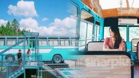 Makan dalam 'bas terbang', view Gunung Kinabalu memang terbaik