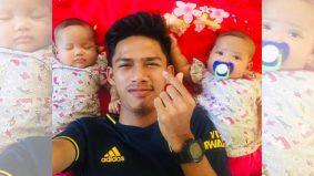 Si kembar kehilangan ibu, bapa muda ini tabah besarkan anak mohon sokongan warganet