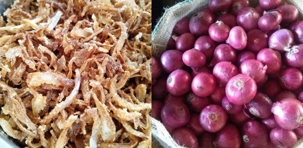 Cara buat bawang goreng sedap rangup guna 2 bahan sahaja