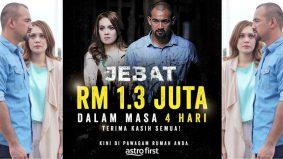 Filem Jebat raih RM1.3 juta, dalam tempoh empat hari tayangan di Astro First