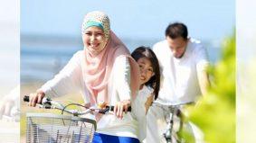 Muslimah berbasikal guna pakaian ketat, tolonglah jaga pemakaian