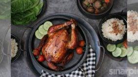 Ayam di'asap' teh, resipi kombinasi Thai-Cina. Kena cuba ni